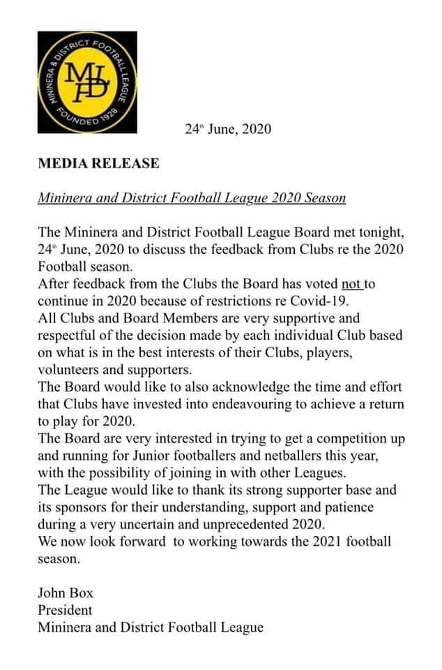 MDFNL season announcement